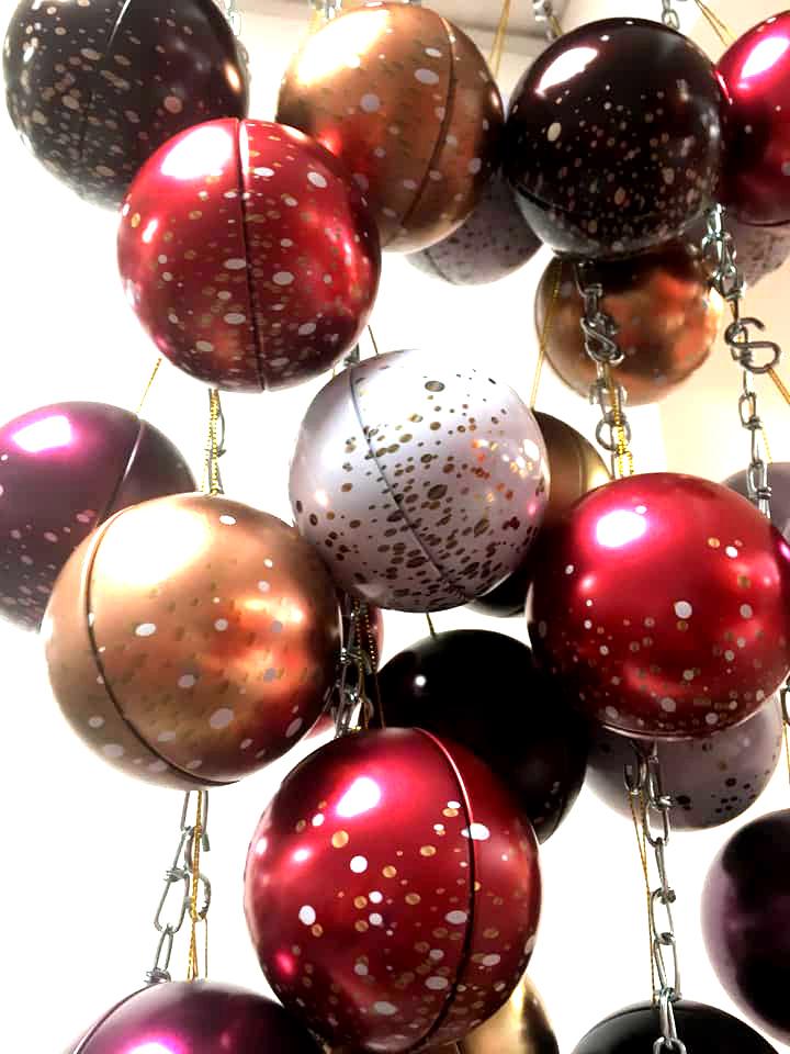 Boules en chocolat de Noël